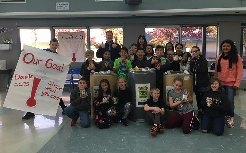 Little Chico Creek student leaders-canned food drive