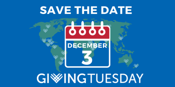 Save the Date- Giving Tuesday- Dec 3, 2019