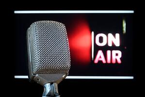 radio interview on air microphone